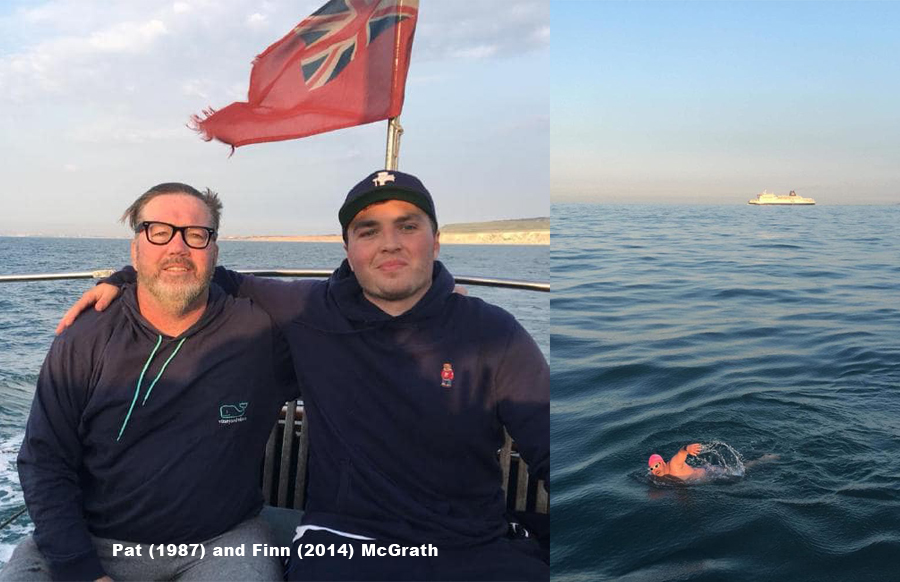 Pat Mcgrath (1987) Becomes Second Ever Ashgrovian to Swim the English Channel