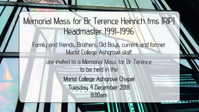 Memorial Mass for Br Terence Heinrich fms (RIP)