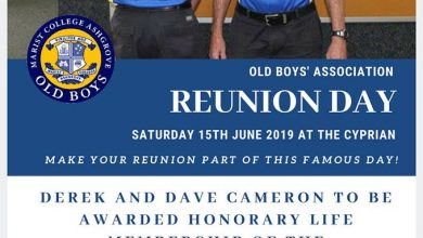 Reunion Day – Saturday 15 June 2019