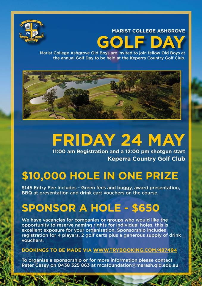Annual Golf Day – Friday 24 May, 2019