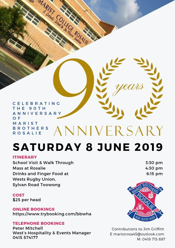 Celebrating the 90th Anniversary of Marist Brothers Rosalie