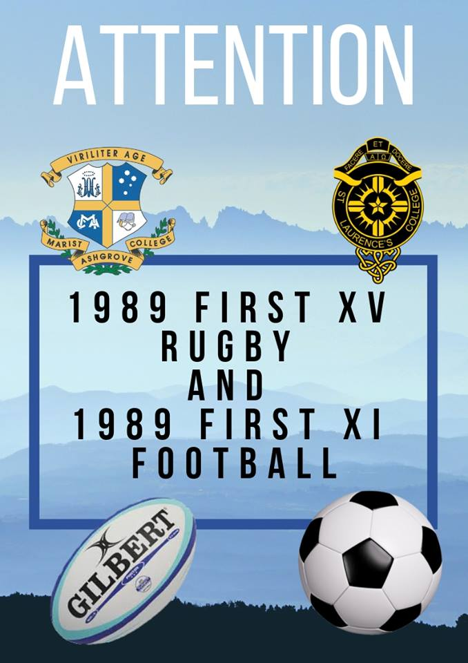 Attention: 1989 First XV Rugby and 1989 First XI Football
