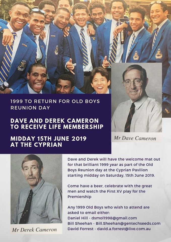 Dave and Derek Cameron to Receive Life Membership