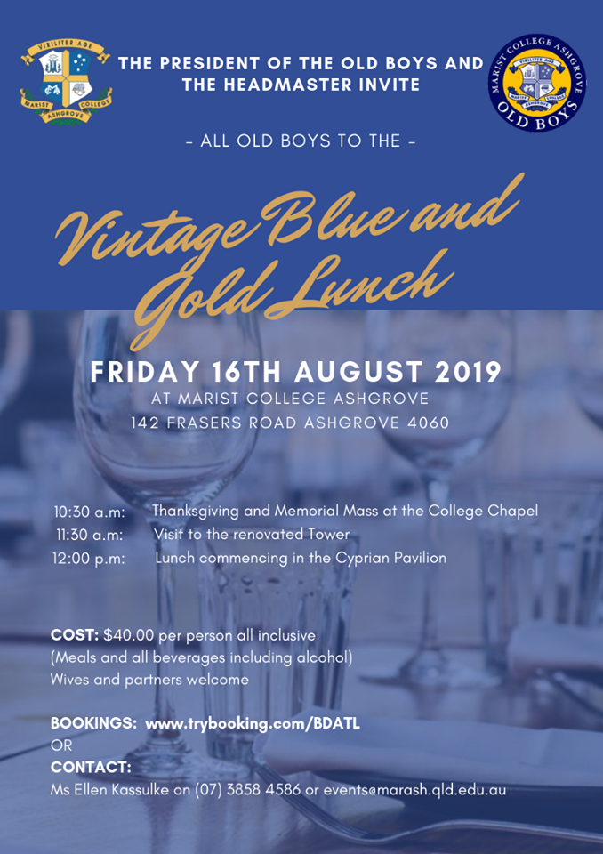Bookings for Vintage Lunch Now Open