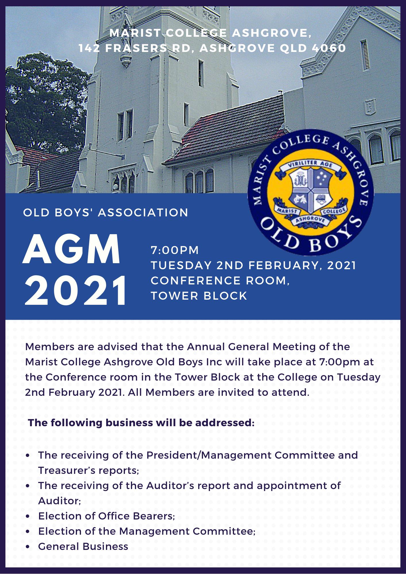 AGM – 2nd February 2021