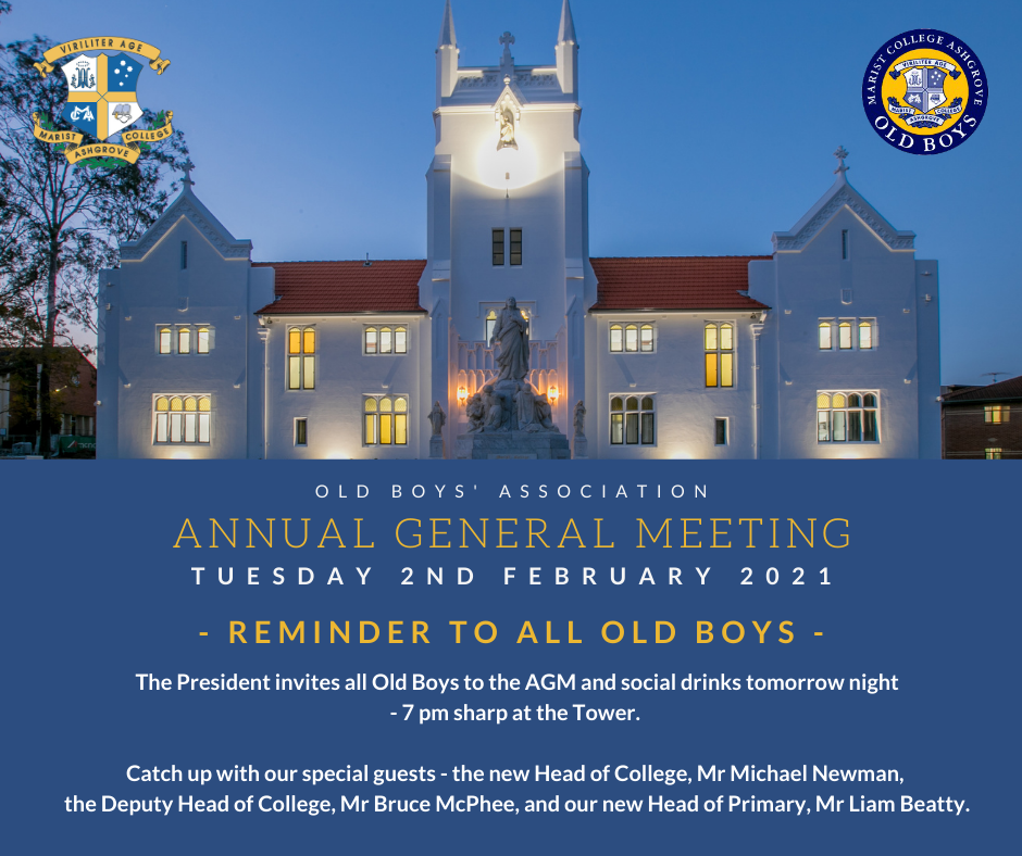Reminder – AGM Tuesday 2 Feb 2021