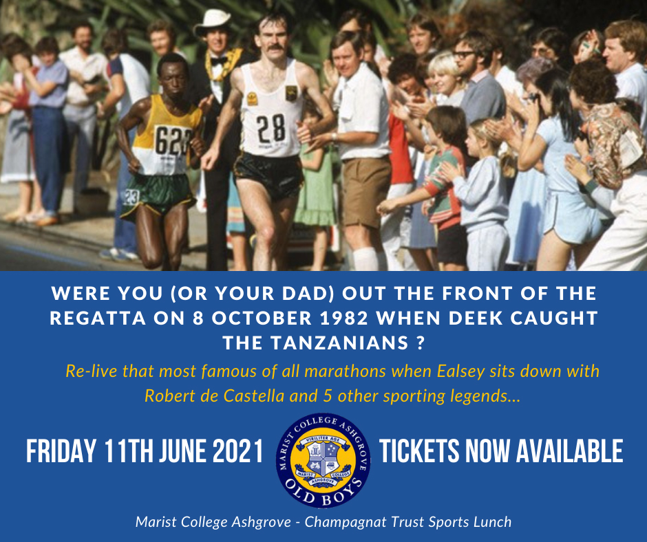 Get your tickets – Champagnat Trust Sports Lunch Friday 11 June 2021