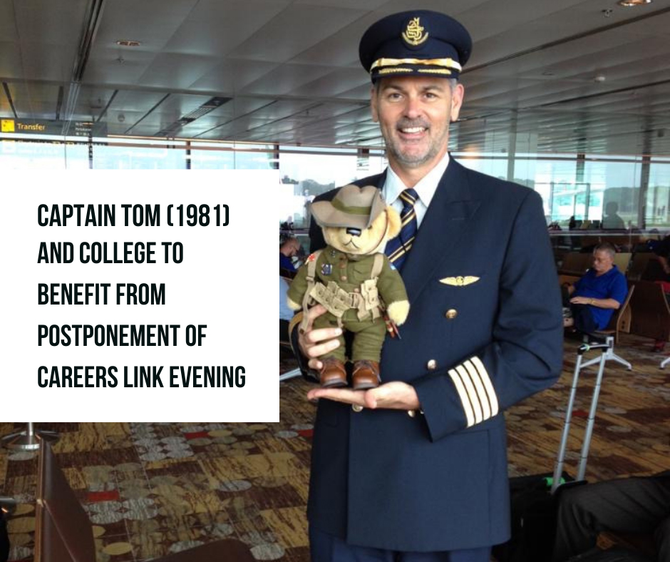 Captain Tom (1981) and College to Benefit from Postponement of Careers Link Evening
