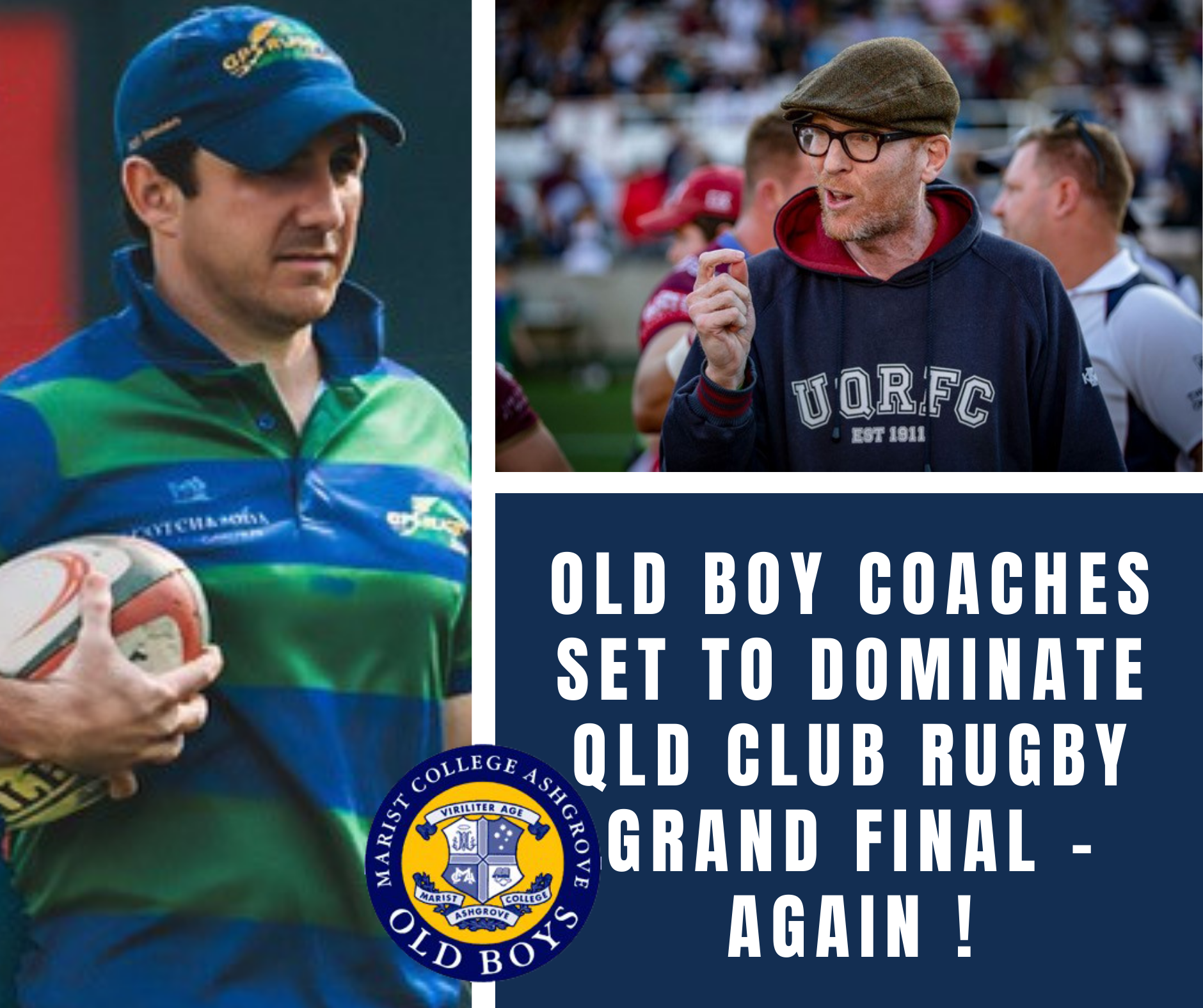 Old Boy Coaches Set to Dominate QLD Club Rugby Grand Final – Again!